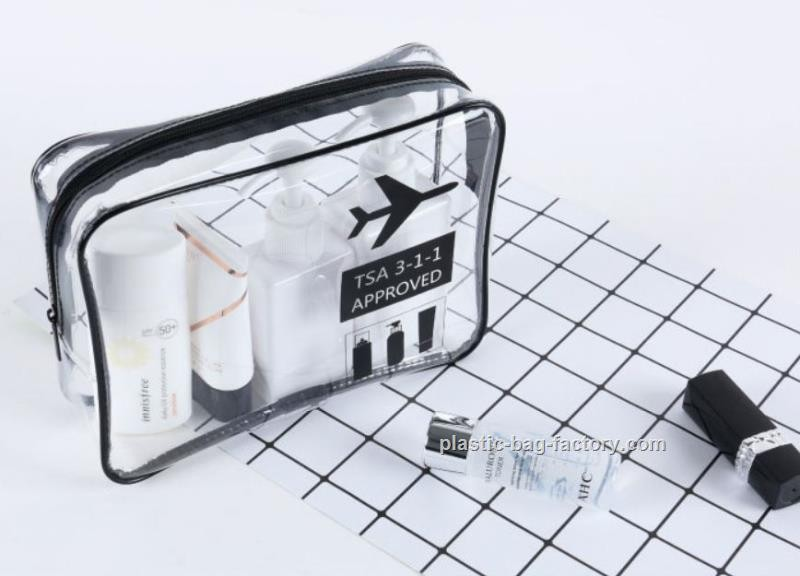 Clear Travel Toiletry Bag Travel Cosmetic Bag Airline Wash Bag Waterproof Airline Carrier Bag