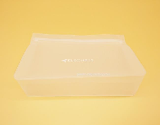 Frosted EVA Stand-Up Ziplock Cometic Pouch Leak-Proof Make-Up Pouch for Liquids Bottle