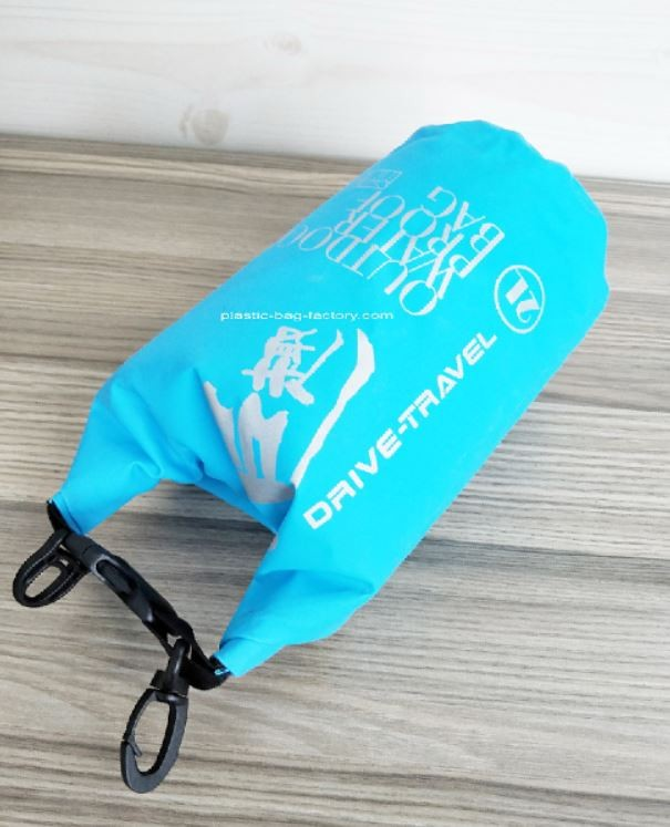 Small Portable Tarpaulin PVC 2L Light-Weight Rolling-top Water-Resistant Dry Tube Bags