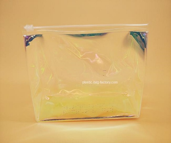 Hologram Laser PVC Cosmetic Bag Rainbow Laser PVC Cosmetic Zipper Pouch
